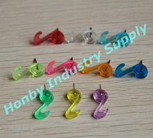 Home items, music note shape transparant color decorative pin