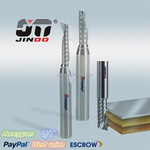 tungsten carbide single flute endmill cutters cnc lathe cutting tools for cutting wood