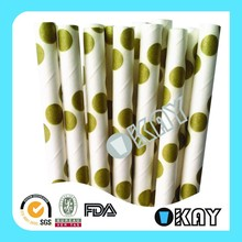 Fashion Silver Foil Straws For Birthday Party Supplies And Decoration