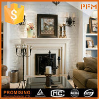 PFM Chinese marble and travertine fireplace natural stone picture frame