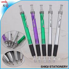 new design novelty promotional metal wave clip ball pen