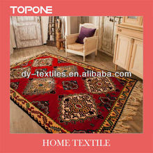 Fashion good modern design flower floor wool rug