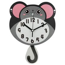Venta al por mayor de la novedad kids animal mdf wall clock venta