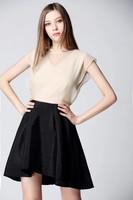 2015 new style round neck sleeveless woman formal dress latest dress designs photos