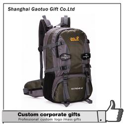 Creative Good quality custom logo printed hiking backpack