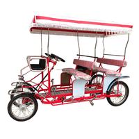 ZZMERCK Used Quadricycle Surrey Sightseeing Bike