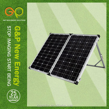 120 watt folding solar panel with pwm solar panel charge controller 12v 10a certificate by CE/CEC/TUV/ISO