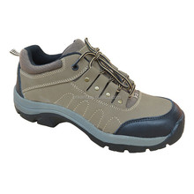 New style nubuck leather safety shoes, rubber sole safety shoes