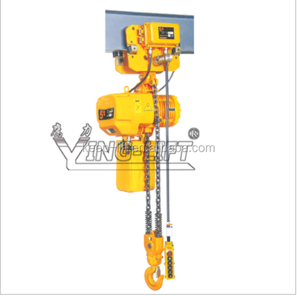 Electric Trolley Type Electric Chain Hoist View 1 Ton