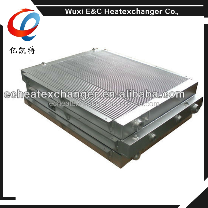 Gas To Air Cooler : Plate fin air cooler for gas screw compressor