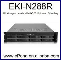 2U High Density Storage Server Chassis/PC Case EKI-N288R