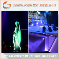 2015 45 angle 3d Holographic transparent projection screen film/ rear projection imaging film / stage projection film