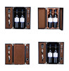 Cheap leather wine carrier with accessories