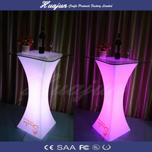 classic led table/glass top family desk/illuminated plastic furniture
