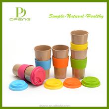2015 wholesale Custom 100% eco friendly rice husk fiber cute coffee travel mug /cup