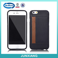 smart pu card hole back cover tpu case wholesale for iphone 6