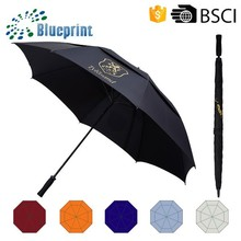 2012 cheap and new fashion big windproof golf umbrella wholesale in Guangdong China