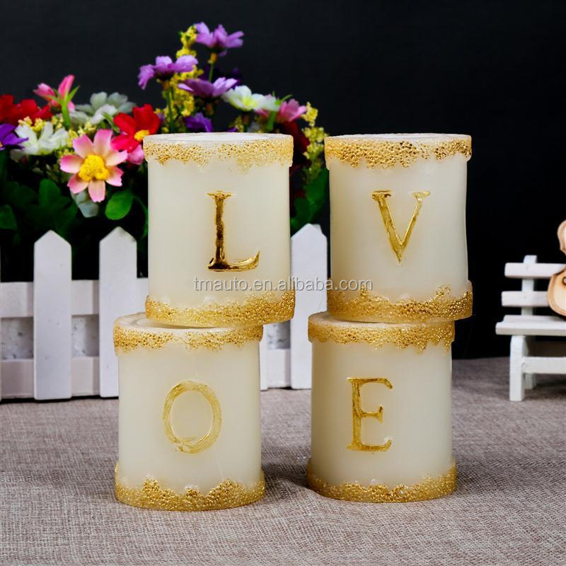 Home decor letters led candles number candles