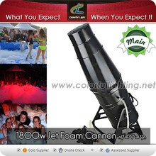 Colorful Light good quality foam party machine, 1800w foam party jet for party entertainment