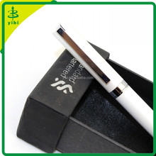 SL-X846 white Classic silver Ring Fountain Pen Stylish with Push in Style Ink Converter