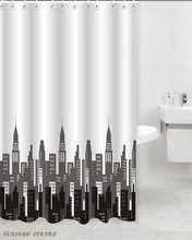 100% Polyester City Life Printed Shower Curtain