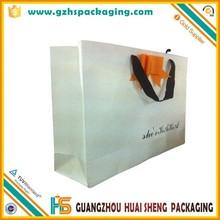 custom logo printed glossy lamination paper bag,cutom printed paper bag