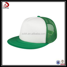 2015 wholesale flat brim foam mesh trucker cap custom blank trucker hat caps
