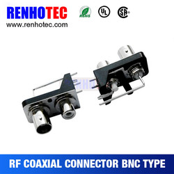 China Supplier R/A BNC to RCA in One Row Jack PCB Mount RF Electrical Connectors