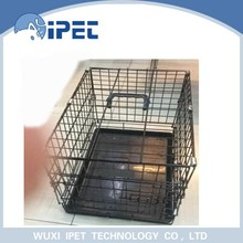 Ipet small folding display iron mesh pet cage with ABS tray