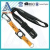 Promotional cheap neck strap water bottle holder strap with carabiner