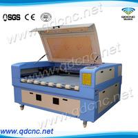 laser cloth cutting machine with 2 heads and auto feeder QD-1610-2 fabric laser cutting machine
