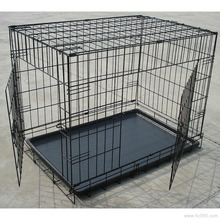 Low price and high quality about the welded wire mesh dog cage with wheels/ stainless steel dog cage