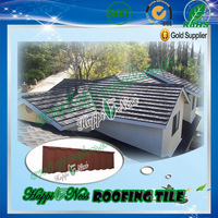 Colorful Stone Coated Galvanized Steel Roof Sheet / Natural stone coated roof tile