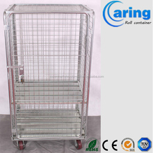 space saving nestable roll containers/cargo hand cart trolley