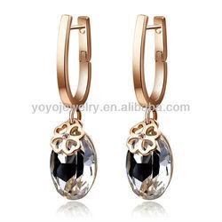 hot sale fashion jewelry zircon lot ear ring shamballa gold huggie hoop earrings