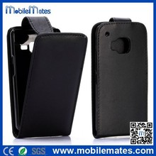 Black Vertical Flip Leather Case for HTC One M9, for HTC One M9 PC+PU Leather Case, for HTC One M9 Folio Vertical Case Cover