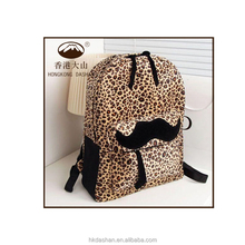 2015 new arrival leopard print good quality laptop outdoor school backpack