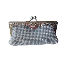 Crystal shimmery evening box clutch bridal handbags hardcase bags
