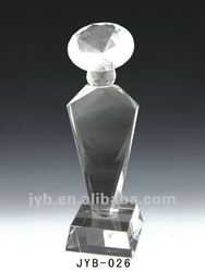 3D crystal glass figurines