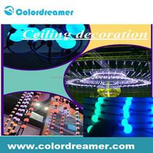 dmx led rgb 3d effect ball string light dmx stage light/led dmx 3d ball