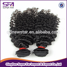 Deep curl full cuticle, same direction remy human hair weft, brazilian hair