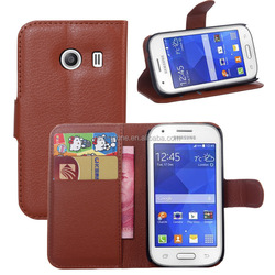 Custom lychee pattern pu leather case for galaxy ACE style S756C with stand