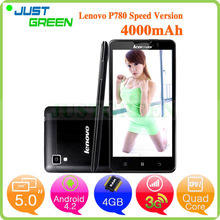 Lenovo P780 android cell phone 5 inch android phone MTK6589 Quad Cores 1GB 8GB Android 4.2 mobile phone