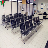 Airport wait room used metal 3-seater wait chair