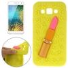 Wholesale Price 3D Lipstick Pattern Protective Silicone Cover Case for Samsung Galaxy E7
