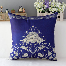 DZT157278 New Sofa Back Pillowcase Pillow Cover Classical Chinese Blue And White Porcelain Printed