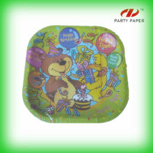 Party Decoration Safety Material Paper Plates With Disposable