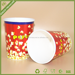 2016 Fried Paper Buckets/Round Paper Buckets for Food Packaging/Paper Buckets with High Plastic Lids