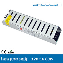 60w 12v 5a dc power supply china suppliers for cctv camera linear led driver