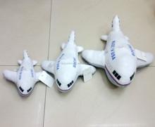18cm, 25cm and 35cm white plush toy plane